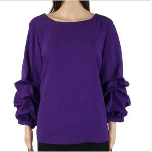 NWT $70 Alfani Women's Size XL Blouse, Purple